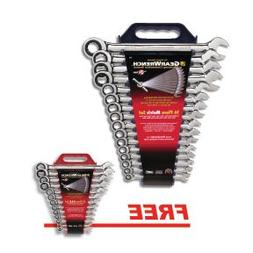GearWrench 9416D 16-Piece Metric 12-Point Combination Ratche