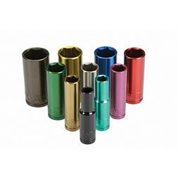 """ABC Products"" -  -10 Piece SAE ~ 3/8"" Drive - Color-Coded -"