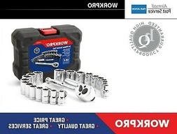 """WORKPRO X24 Socket Set 3/8"""" Ratchet Wrench  Spanner Metric S"""