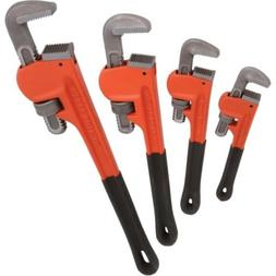 "Goplus 4pcs Adjustable 8"" 10"" 14"" 18"" Heavy Duty Pipe Wrench"
