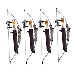 SA Sports Axis Recurve Youth Bow Set , 4-Pack, with Hip Quiv