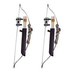 SA Sports Axis Recurve Youth Bow Set , 2-Pack, with Hip Quiv