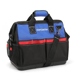 WORKPRO Heavy Duty Tool Bag,18-Inch Wide Mouth Canvas Tool O