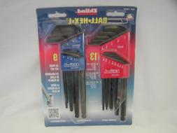 Eklind Ball-Hex-L Key, 22-Piece Set, SAE/Metric, Black Oxide