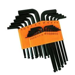 25 Piece Ball End Long Arm Hex Key Allen L Wrench Driver SAE