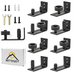 Barn Door Floor Guide Roller - Wall Mount Adjustable Channel