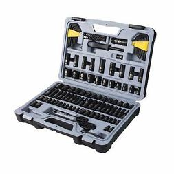 Black Chrome Socket Ratchet Home Improvement Hand Tools Set