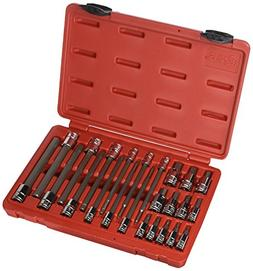 "Genius Tools 24 Piece 1/4"" & 3/8"" Dr. Metric Hex Bit Socket"