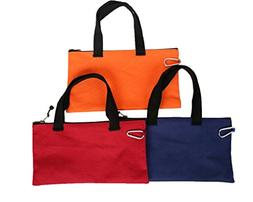 Canvas Tool Bags with Metal Zippers Handy Carabiner Clip Wai