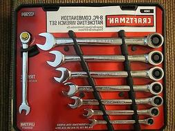 Craftsman 8 pc Standard Combination Ratcheting Wrench Set, #