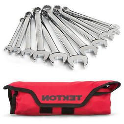 TEKTON Combination Wrench Set with Roll-up Storage Pouch, Me