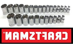 "New Craftsman 27 Pc Sae Standard & Metric 3/8"" Drive 6 Point"