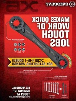 Crescent X6 CX6DBS2 4-in-1 Double Box Ratcheting Wrench Set,