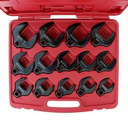 """ABN Crowfoot Wrench SAE Standard 1/2"""" Inch Drive 14-Piece"""