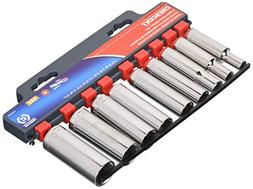 "Crescent CSAS6N SAE Deep 3/8"" Drive 6 Point Socket Set"