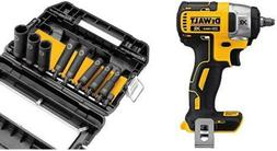 """DEWALT 20V Compact Impact Wrench XR 3/8"""" Tool Only and 10-Pc"""