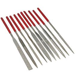 10pcs Diamond Needle File Rasp Set For Jewelery Glass Jade G