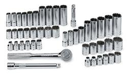 SK Hand Tool 4147 47-Piece 1/2 in. Drive 12-Point SAE/Metric