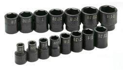 SK Hand Tools 4035 15-Piece 1/2-Inch Drive 6 Point Standard