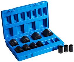 "1/2"" Drive 11 Piece Standard Set-8 Point"