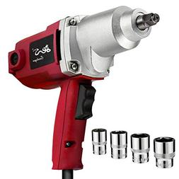 """Topcraft 7.5 Amp 1/2"""" Electric Impact Wrench with Sockets an"""