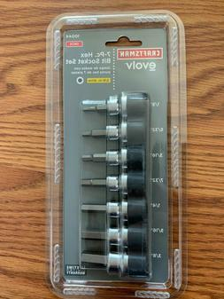CRAFTSMAN EVOLV 7-PC HEX BIT SOCKET SET *METRIC*