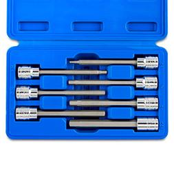 Neiko 7-Piece 3/8-Inch Extra Long Hex Bit Socket Set Metric