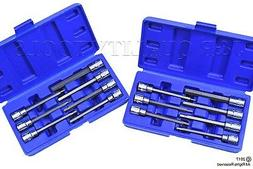 14 Pc Extra Long Hex Bit Sockets Allen Wrench MM+SAE