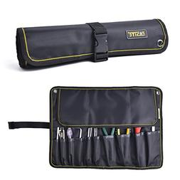 FASITE 10 Pockets Tool Roll Wrench Pouch Organizer New Versi