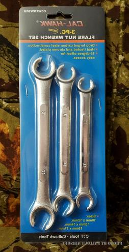 3 piece Flare Nut Wrench Set Metric Brake Line Wrenches 10 1