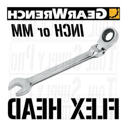 FLEX HEAD GearWrench Ratcheting Combo Wrench INCH METRIC SAE