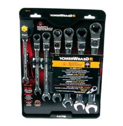 Gear Wrench 7 Piece XL Lock Flex Ratcheting Comb Wrench Set-