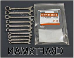 CRAFTSMAN HAND TOOLS 10pcs METRIC MM IGNITION Combination Wr