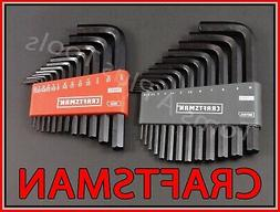 Hex Key wrench set !! Home, Furniture & DIY CRAFTSMAN HAND TOOLS 26pc SAE & METRIC MM Allen Hand Tools