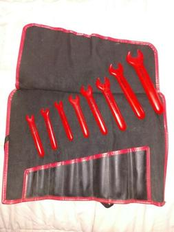 KNIPEX Insulated Open End Wrench Set,8 pc., 98 99 13 S4 New