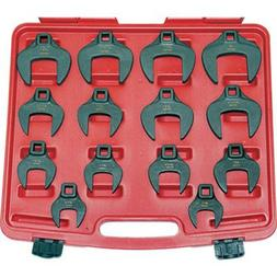 T & E Tools JUMBO SAE Crowfoot Wrenches - 14-Pc. Set, 1/2in.