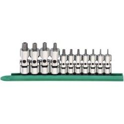 """11 Piece 1/4"""""""" and 3/8"""""""" Drive Universal Stubby Socket Set T"""