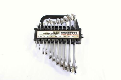 11pc open and box end combination wrench