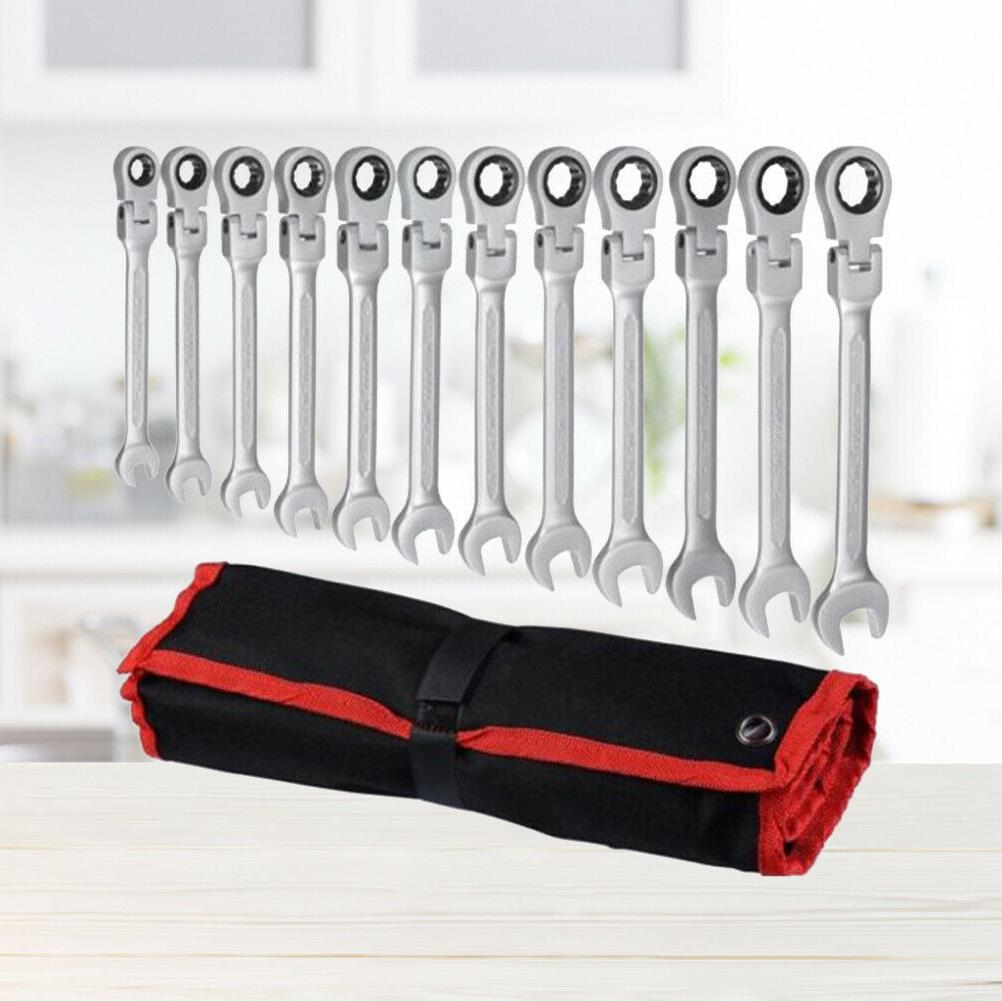 """12PC 5/16"""" to Metric 8mm to 19mm Flex Head Wrench Spanner"""