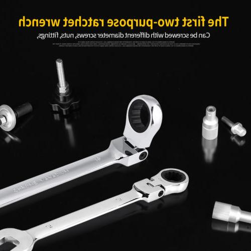 12pc 8-19mm Head Ratcheting Spanner Tools