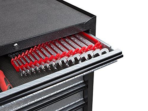 TEKTON Combination Wrench Set with and Keeper, Metric, 8 mm - mm, 15-Piece   18792