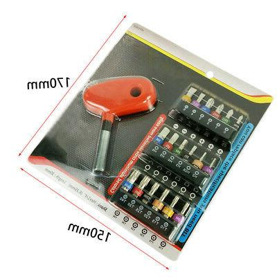 19pcs Screwdriver 1/4 Set Drivers