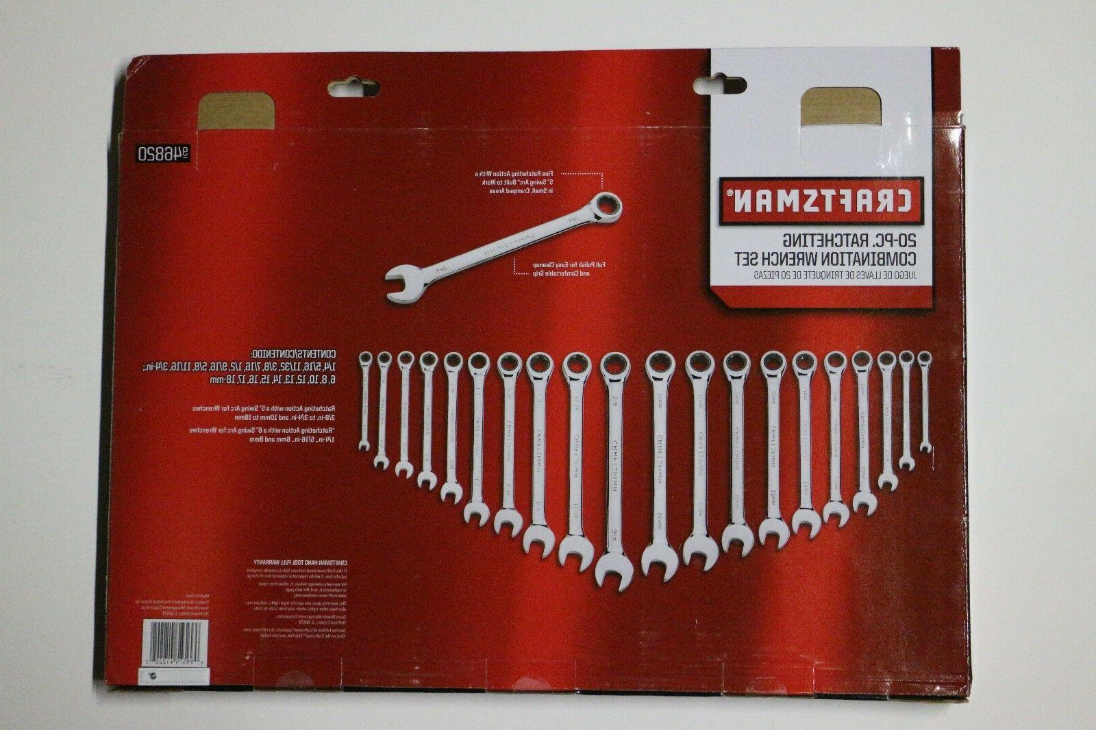Craftsman Combination Wrench Tool Inch 46820
