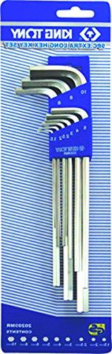 KT Pro Tools 20209MR 9-Piece Extra Long Hex Key Set