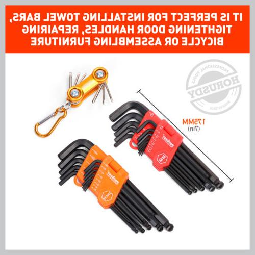 26 Allen Wrench Set Hex Key Set Tool Alan Hex Metric SAE Bal