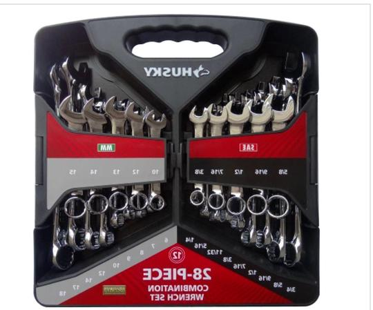 28 piece SAE and Wrench Set 12-point