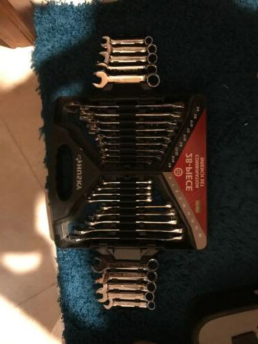 28 piece sae and metric combination wrench