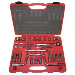 "23 Piece 3/8"""" Drive Chrome Socket Set Tools Equipment Hand"