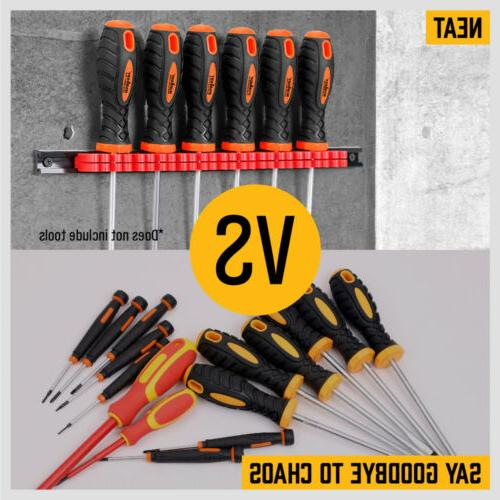 3-Piece Wrench Screwdriver Tool Rack ABS Wall Mount 14Pair