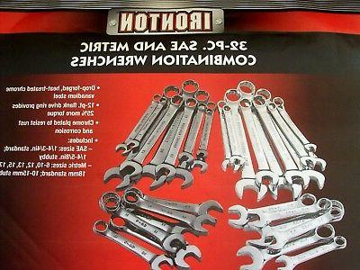 32pc STUBBY WRENCH SET SAE &